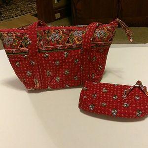 Vera Bradley vintage small red shoulder bag.